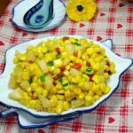 香梨炒玉米(水果菜譜)
