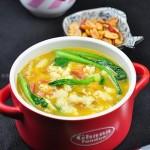 南瓜火腿疙瘩汤(十分钟快手早餐菜谱)