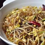 黄豆芽炒粉条(素菜菜谱)