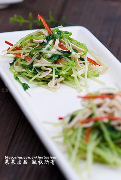 爽口素菜苗(豌豆菜谱)野狼爱吃嫩豆腐图片