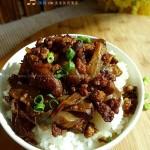肉末烧茄子盖饭(素菜菜谱)