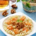 鲜虾桃仁螺丝粉(西餐菜谱)