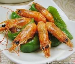 青椒炒对虾