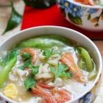 鲜虾鸡蛋汤面(早餐菜谱)