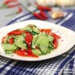 蒜香黄瓜(素菜菜谱)