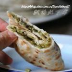 豇豆酸菜馅饼(早餐菜谱)