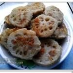 风味藕夹子(荤素搭配菜谱)