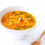 番茄牛肉黄金疙瘩汤(早餐菜谱)