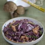 肉片炒鲜蘑(荤素搭配菜谱)