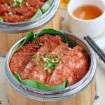 """南乳粉蒸肉(湖北传统名菜""""沔阳三蒸""""之一菜谱)"""