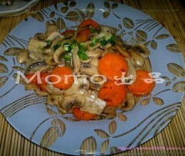 红萝卜炒蘑菇
