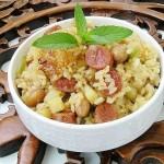 土豆臘腸燜飯(早餐菜譜)