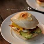 馒头培根汉堡包(早餐菜谱)
