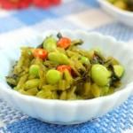 毛豆炒腌菜(素菜菜谱)