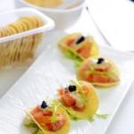 橙香薯片三文鱼沙拉(海鲜菜谱)
