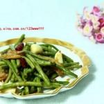 大蒜烧豇豆(素菜菜谱)