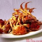 香辣河蟹(河鲜菜谱)