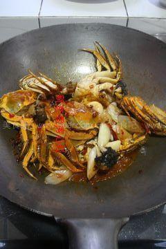 香辣豇豆(河蟹河鲜)清朝炒菜谱图片