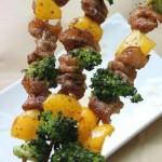 缤纷黑椒烤肉串(烤箱菜谱)
