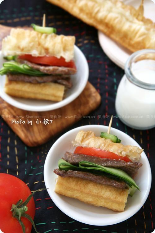 油条牛柳三明治