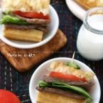 油条牛柳三明治(10分钟早餐菜谱)