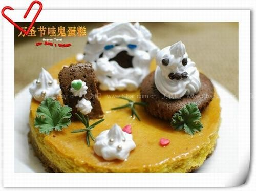 万圣节哇鬼蛋糕的做法 万圣节哇鬼蛋糕的家常做法 万圣节哇鬼蛋糕怎图片