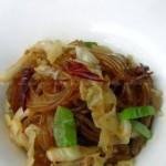 泡菜苕粉肉丝(湖北菜谱)