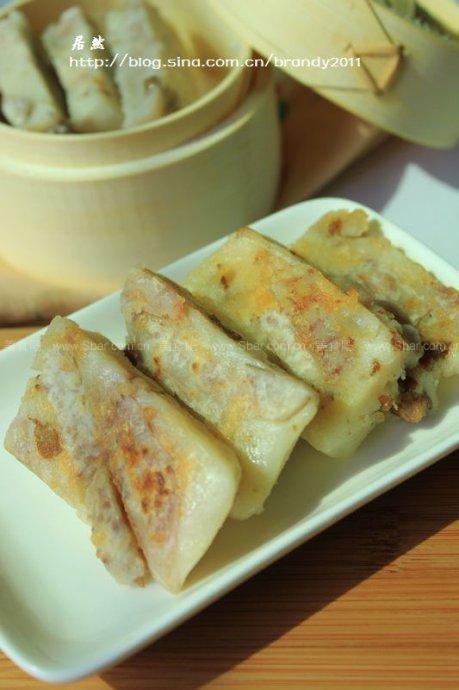肉香芋头糕的做法【图解】_肉香芋头糕的家常做法_肉