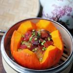 腊肉南瓜盅VS南瓜红烧肉(荤素搭配菜谱)