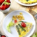 甜玉米红宝石杂蔬蛋排(10分钟早餐菜谱)