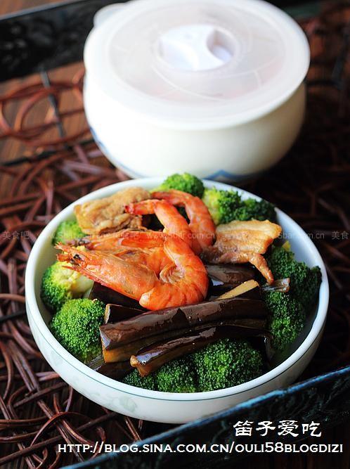 基围虾烧茄子