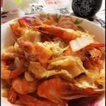 白菜炒大虾(海鲜菜谱)