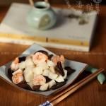 木耳山药虾球(健康家常菜谱)