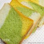菠菜南瓜三色吐司(早餐菜谱)
