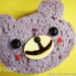 自制紫薯吐司变身可爱小熊三明治(早餐菜谱)