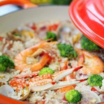 酷彩海鲜饭