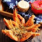 避風塘茶味蝦(海鮮菜譜)