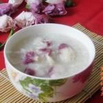 木槿花糯米粥(排毒养颜菜谱)