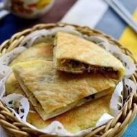 电饼铛咖喱素馅烙饼