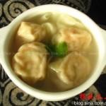 虾仁韭黄馄饨(早餐菜谱)