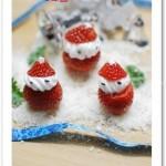草莓圣诞老人(圣诞菜谱)