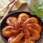 蒜蓉辣酱炒虾(海鲜菜谱)