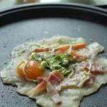 蔬菜鸡蛋培根煎饼(早餐菜谱)