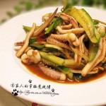 酱炒鱿鱼条(海鲜菜谱)