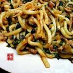 炒乌东面(早餐菜谱)
