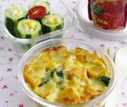 南瓜焗饭+玉米黄瓜沙拉