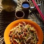 肉丝炒笋丝咸菜(荤素搭配菜谱)