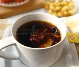 自制炒红枣生姜红茶