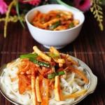 韓式魷魚拌面(早餐食譜)
