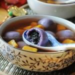 红薯姜糖水紫薯黑洋酥汤圆(元宵食谱)